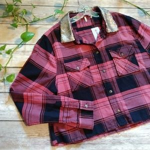 BKE Eased from Buckle Crop Plaid Flannel XL